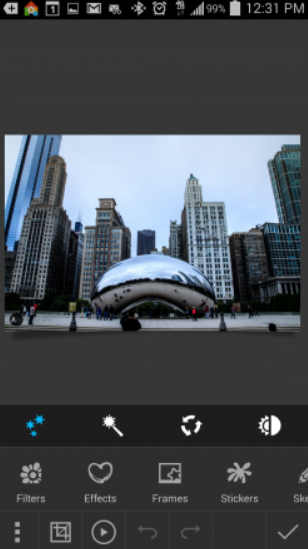 Photo Studio Filters Tab